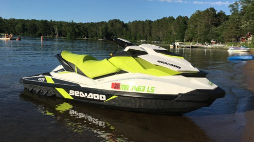 One of Dockside Rental's Seadoo GTI's in the Water